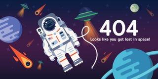 una pagina Web di 404 errori Immagini Stock Libere da Diritti