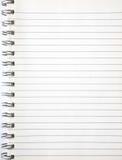 Una paginación en blanco de un cuaderno. Fotos de archivo libres de regalías