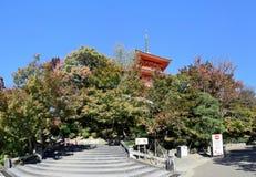 Una pagoda del templo de Kiyomizu, Kyoto Fotografía de archivo libre de regalías