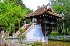 Una pagoda della colonna, Hanoi Vietnam immagine stock libera da diritti
