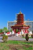 Una pagoda di sette giorni Elista Repubblica di Calmucchia La Russia Fotografia Stock Libera da Diritti