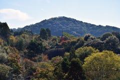 Una pagoda en el templo de Kiyomizu, Kyoto Imagen de archivo