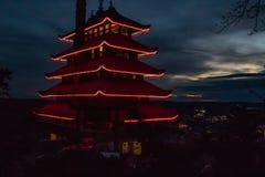 Una pagoda en la lectura, Pennsylvania Fotos de archivo libres de regalías