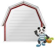 Una panda en plantilla de la nota libre illustration