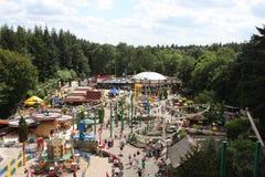 Una panoramica di un parco a tema in Olanda immagini stock libere da diritti