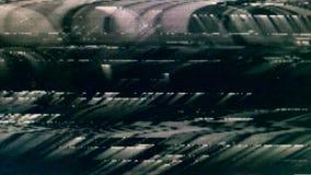 Una pantalla de los parásitos atmosféricos de la película de la TV almacen de metraje de vídeo