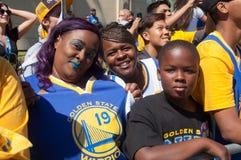 Una parata di 2015 di NBA guerrieri di campionato Fotografia Stock Libera da Diritti