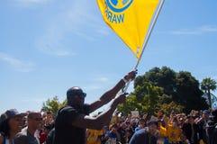 Una parata di 2015 di NBA guerrieri di campionato Immagini Stock Libere da Diritti