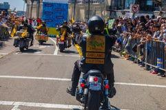 Una parata di 2015 di NBA guerrieri di campionato Fotografie Stock Libere da Diritti