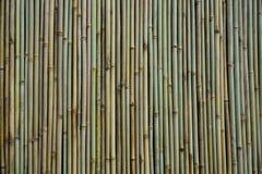 Una pared de bambú, o varios palillos y texturas de bambú rectos verticales fotos de archivo