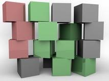 Una pared de bloques Foto de archivo