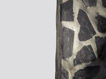 Una pared de la piedra decorativa y del hormigón Imagen de archivo libre de regalías