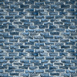 Una pared de ladrillo azul rústica Fotografía de archivo libre de regalías