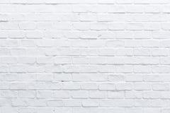 Una pared de ladrillo blanca Fotos de archivo