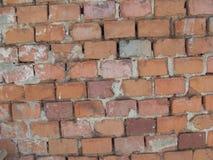 Una pared de ladrillo sin yeso Fotos de archivo libres de regalías