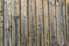 Una pared de los viejos tableros de madera 1 Fotos de archivo libres de regalías