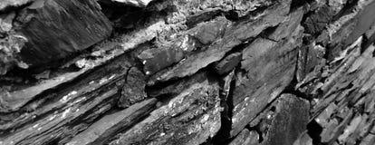 Una pared de piedra de la pizarra Imagen de archivo libre de regalías