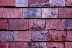 Pared de piedra de la teja de la pizarra Fotografía de archivo