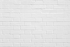 Una pared del blanco de la albañilería del ladrillo imágenes de archivo libres de regalías