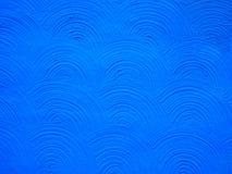 Textura azul del arco del fondo del estuco Foto de archivo libre de regalías