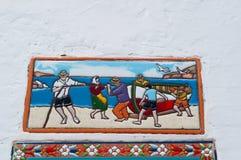 Una parete decorata Fotografie Stock Libere da Diritti