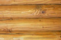 Una parete della cabina di ceppo come fondo Fotografia Stock