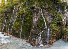 Una parete delle cascate Fotografia Stock