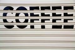 Una parete di caffè Immagine Stock