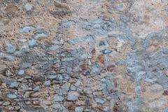 Una parete riparata rustica Immagine Stock