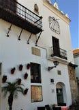 Una parete tipica di vecchia Marbella Immagine Stock Libera da Diritti