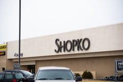 Una parte anteriore del deposito di Shopko fotografie stock libere da diritti