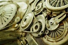 Una parte da una grande scultura del metallo della via Immagini Stock