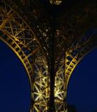 Una parte de la torre Eiffel Imágenes de archivo libres de regalías
