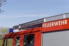 Una parte de un coche de bomberos Fotos de archivo