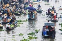 Una parte del mercado flotante de Nga Nam Imagen de archivo