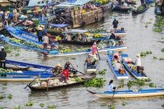 Una parte del mercado flotante de Nga Nam Fotos de archivo libres de regalías