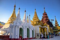 Una parte del tempio di Shwedagon Immagini Stock