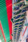 Una parte del tetto di stile cinese a Wat Leng-Noei-Yi Immagine Stock Libera da Diritti