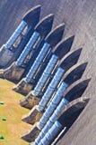 Una parte della diga concreta Fotografia Stock