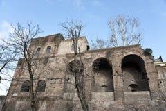 Una parte della parete di Avrelian a Roma. Immagini Stock