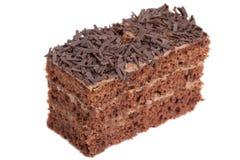 Una parte della torta di cioccolato Fotografia Stock Libera da Diritti