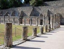 Una parte delle caserme del gladiatore a Pompei Immagini Stock Libere da Diritti