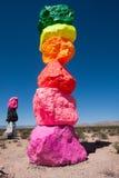 Una parte di esposizione all'aperto di arte di sette montagne magiche Fotografie Stock