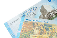 Una parte di 500 libbre siriane di bancnote Fotografie Stock Libere da Diritti