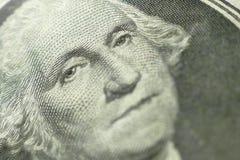 Una parte di un dollaro Bill Macro Fotografia Stock Libera da Diritti
