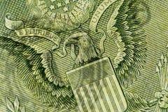 Una parte di un dollaro Bill Macro Immagini Stock Libere da Diritti