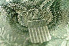 Una parte di un dollaro Bill Macro Immagine Stock