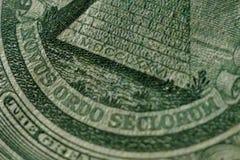 Una parte di un dollaro Bill Macro Fotografie Stock