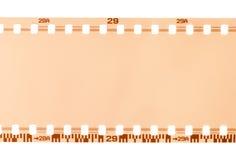 Una parte di una pellicola da 35 millimetri Immagine Stock