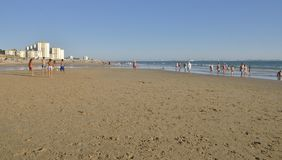Una passeggiata dalla spiaggia Fotografia Stock